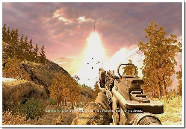Call Of Duty 4 Modern Warfare : tir de missile