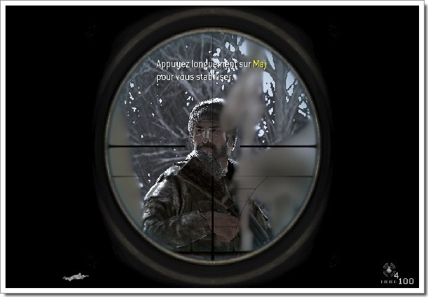 Call Of Duty 4 Modern Warfare : visée sniper