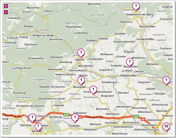 Donkiz, métamoteur de recherche immobilière : affichage des résultats sur une carte