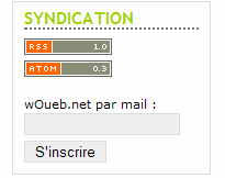 Le bloc syndication de wOueb.net