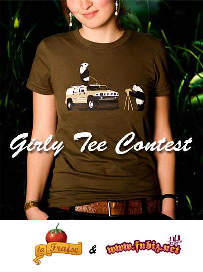 Girly Tee Contest par Fubiz et La Fraise