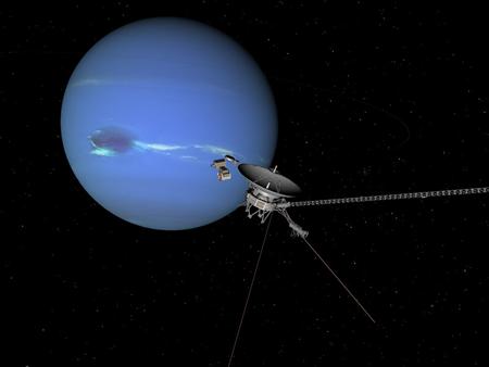 Voyager 2 près de Neptune avant le grand saut dans l'espace