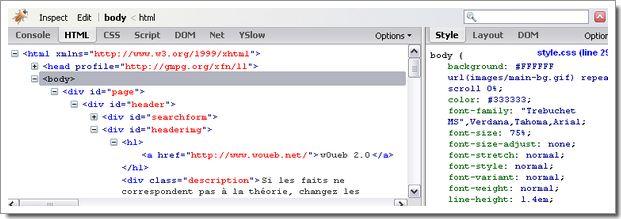 Plugin Firebug pour Firefox