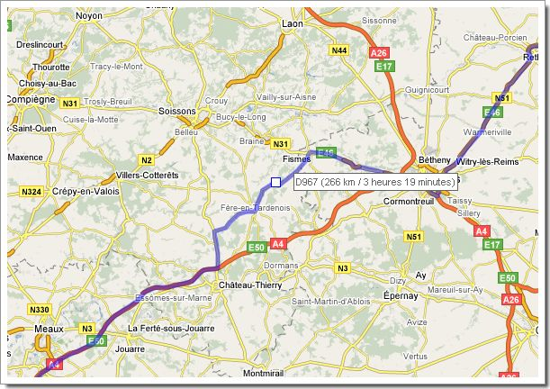 Nouvelle fonctionnalité Google Maps : déplacement de l'itinéraire en glisser/déposer