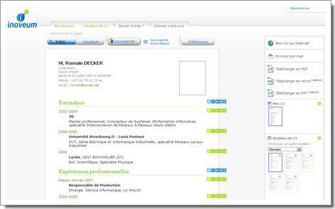Inoveum : création et diffusion de CV en ligne