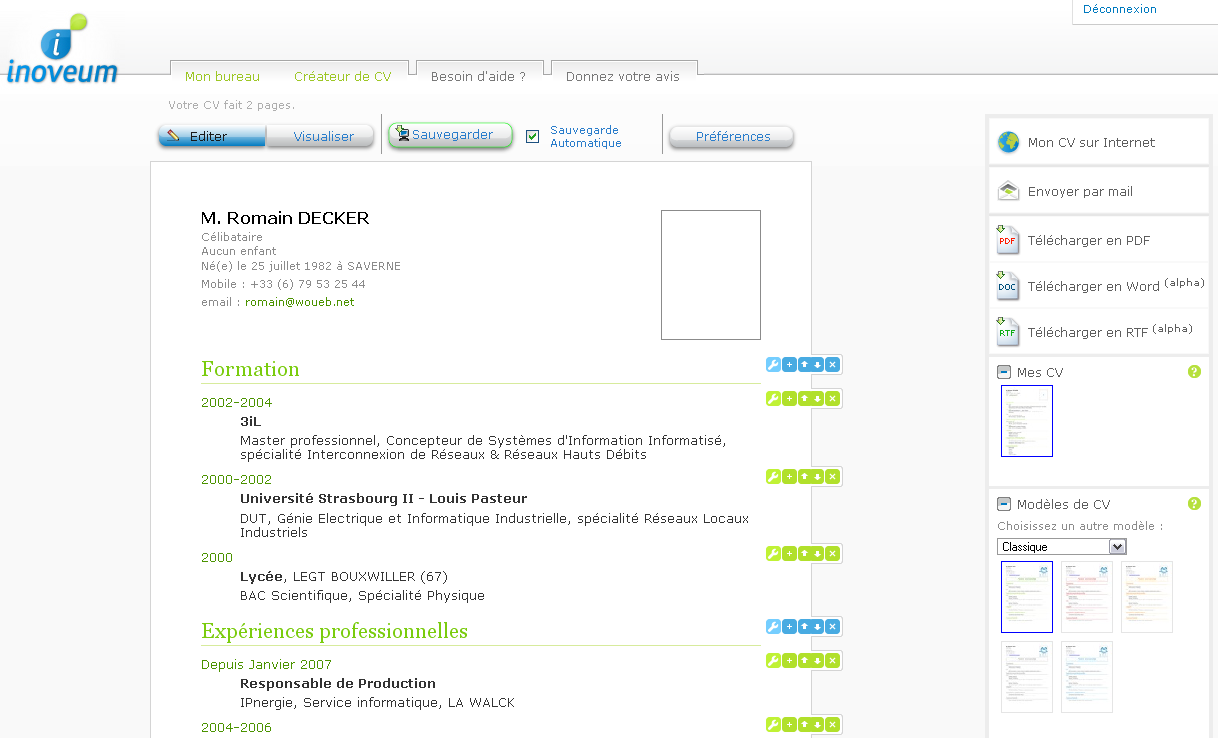 inoveum   cr u00e9er facilement votre cv en ligne  u00ab woueb by romain decker    another it guy blog