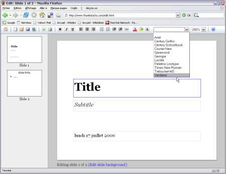 Thumbstacks : création de diaporama en ligne - wOueb.net