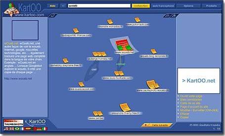 Métamoteur de recherche Kartoo.com - wOueb.net