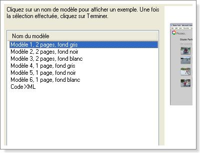 Picasa - Choix de la présentation