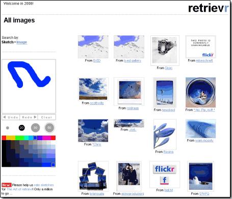 Retrievr : système de recherche graphique pour Flickr - wOueb.net