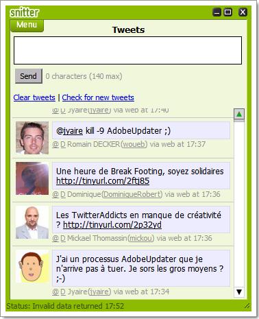 Snitter : nouveau client AIR pour Twitter