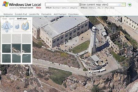 Windows Live Local : Alcatraz en Bird's Eye, zoom max - wOueb.net