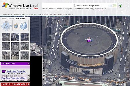 Windows Live Local : Madison Square Garden, New-York  - wOueb.net