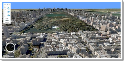 Central Park et ses environs en 3D : Windows Live Local