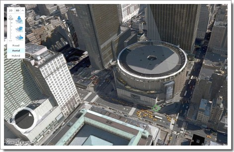 Vue du Madison Square Garden en 3D : Windows Live Local