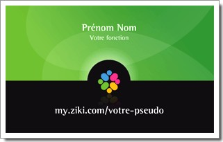 Carte de visite Ziki