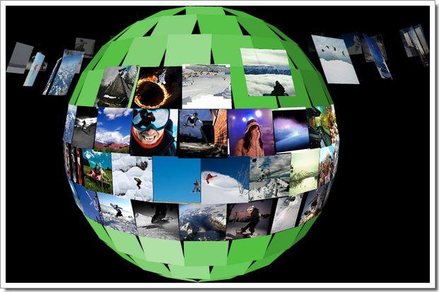 Visualisation des images sous forme de planète