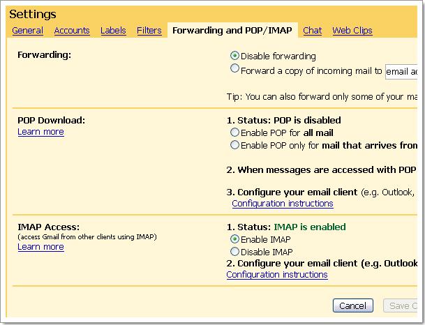 Gmail passe à l'IMAP : comment activer l'IMAP dans votre compte ?
