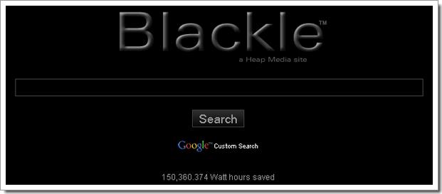Blackle, un Google pas si écolo que ça