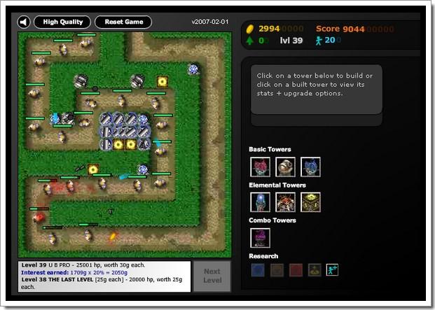 Flash Element TD : jeu de réflexion en ligne