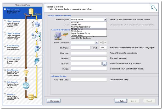 MySQL Migration Toolkit : outil avancée pour migration d'une base de données vers MySQL