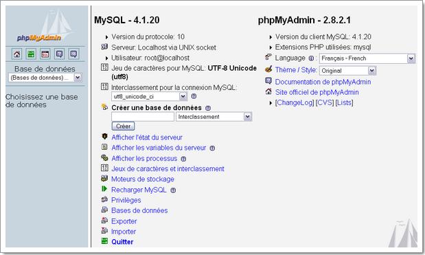 PhpMyAdmin : gestion en ligne de vos bases de données MySQL en PHP