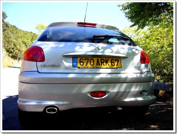 Vends Peugeot 206 Quiksilver HDi : vue arrière