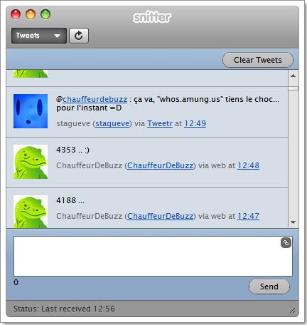 Nouvelle version de Snitter, client Twitter en AIR
