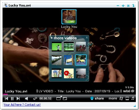 Wixi : le lecteur multimédia vous propose du contenu en relation