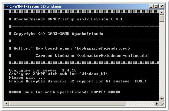 Wordpress sur une clé USB : installation de Xampplite