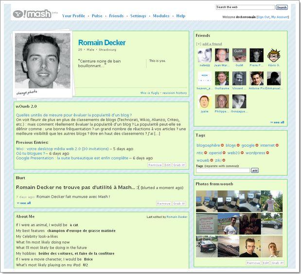Yahoo Mash : un nouveau réseau social