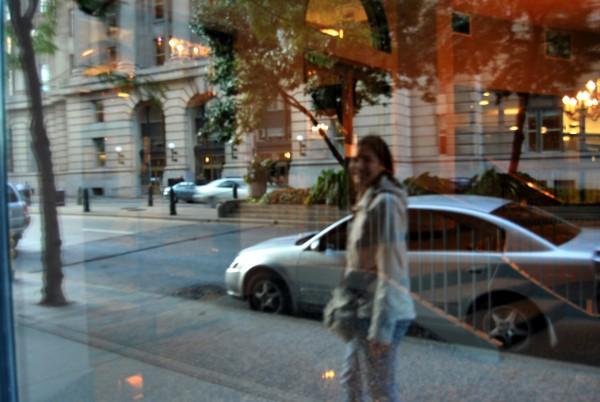 Canada : C. dans une vitrine à Toronto