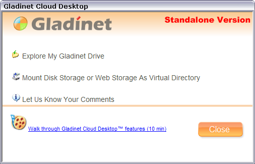 Easy access to online services with Gladinet