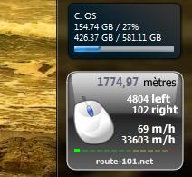 1700 mètres avec ma souris