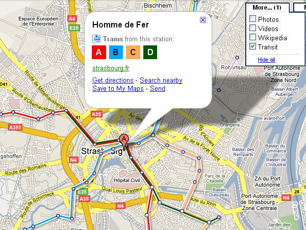 Cartes du métro et tram sur Google Maps « wOueb by Romain DECKER