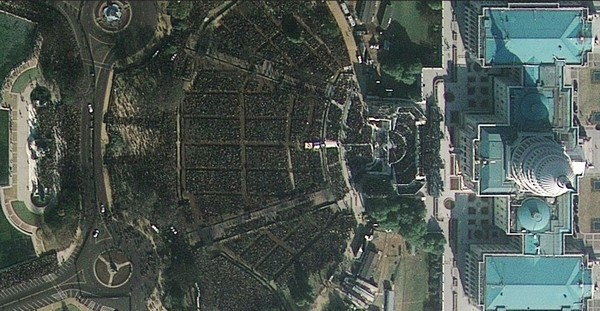 Investiture d'Obama vu par le satellite GeoEye