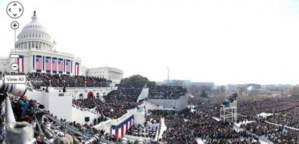 Investiture de Barack Obama en panoramique