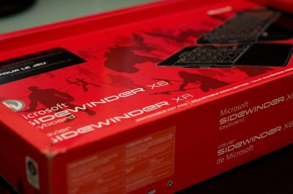 Clavier Microsoft Sidewinder X6 : emballage