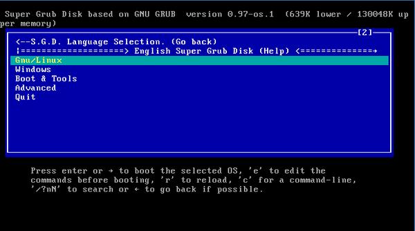 Correction des problèmes de démarrage avec Super Grub Disk