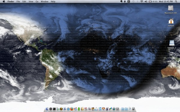 EarthDesk sur Mac OS X