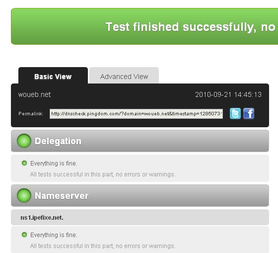 Pingdom : test DNS