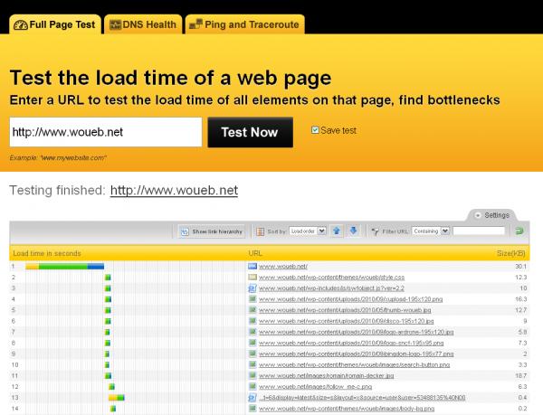 Pingdom : test de vitesse de votre site web