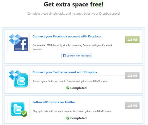 Dropbox : obtenez de l'espace supplémentaire gratuitement