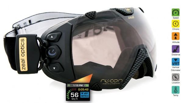 ZealOptics Transcend : masque de snowboard à GPS intégré