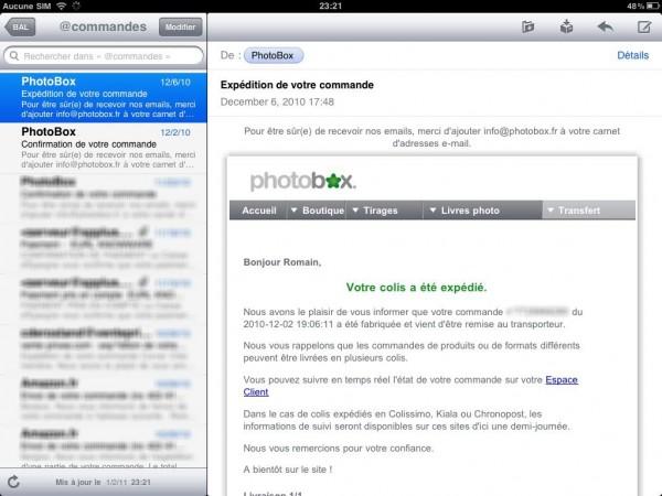 Consultez vos mails avec un iPad
