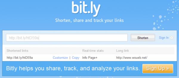 Bit.ly : service d'URL courte
