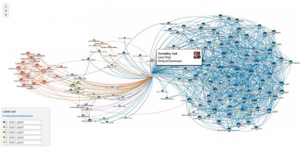 LinkedIn InMaps : résultat graphique