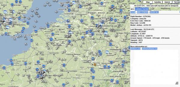 Visualiser les avions en vol avec RadarVirtuel.com