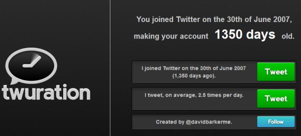 Twuration : depuis quand êtes-vous inscrit sur Twitter ?