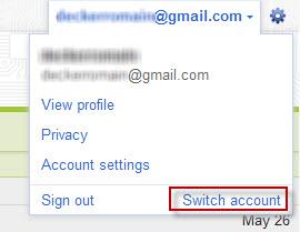 Compte Google : switch d'un compte à un autre